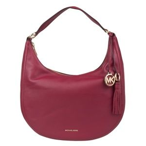 NWT Michael Kors Lydia Large Leather Hobo Bag